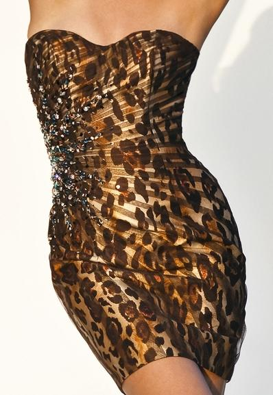 Black by Blush Leopard Print Cocktail Dress with Beading C046 ...