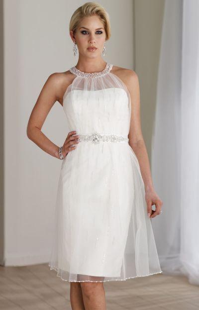 destinations by mon cheri short lace casual wedding dress