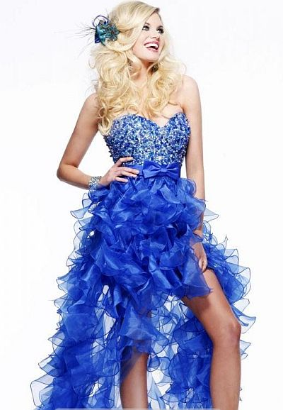 French Blue Prom Dresses