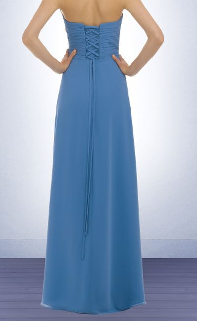 bill levkoff long chiffon bridesmaid dress 329 french novelty