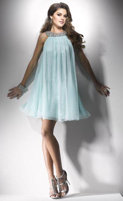 Flirt Pf5102 High Neck Short Homecoming Dress With Loose