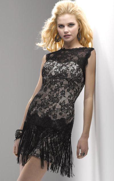 Alternate view of the flirt pf5117 sleeveless lace illusion short