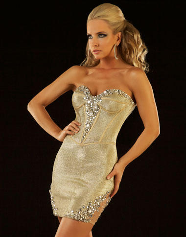 Twelve by Mac Duggal Corset Cocktail Dress 50087T: French Novelty