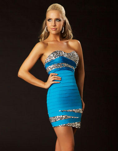 Twelve by Mac Duggal Sexy Fitted Cocktail Dress 61159T: French Novelty