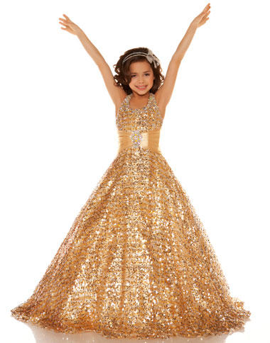 Sugar by Mac Duggal Girls Pageant Dress 42617S: French Novelty
