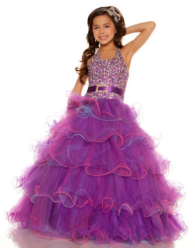 Sugar by Mac Duggal Girls Pageant Dress 81599S: French Novelty