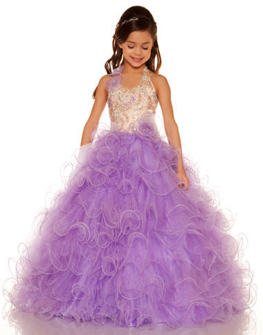 Sugar by Mac Duggal Girls Angelic Pageant Dress 81680S: French Novelty