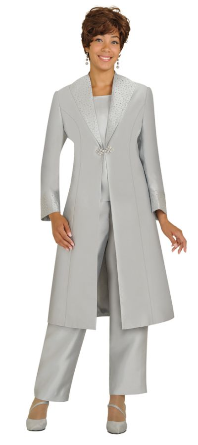 Nubiano N95803 Womens Church Studded Pant Suit With Duster