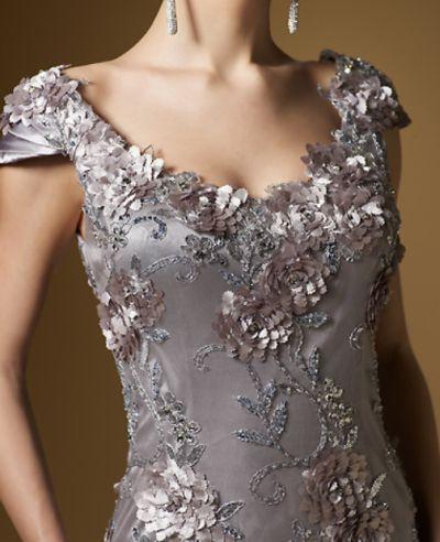 cf2f07dc99 Rina di Montella 1532-S Short Cap Sleeve Beaded Cocktail Dresses ...