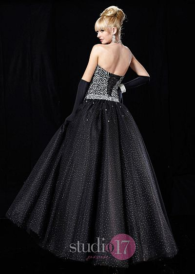 Studio 17 Glitter Tulle and Lame Ball Gown 12325: French Novelty