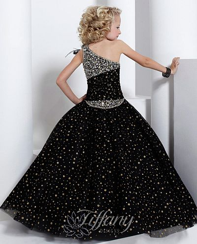 Tiffany Princess Girls Sparkle Tulle Pageant Dress 13321: French ...