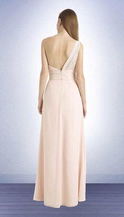 Bill Levkoff 749 One Shoulder Chiffon Bridesmaid Dress