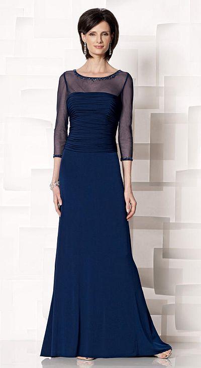 Cameron Blake Illusion Sleeve Mob Dress 213634 French Novelty