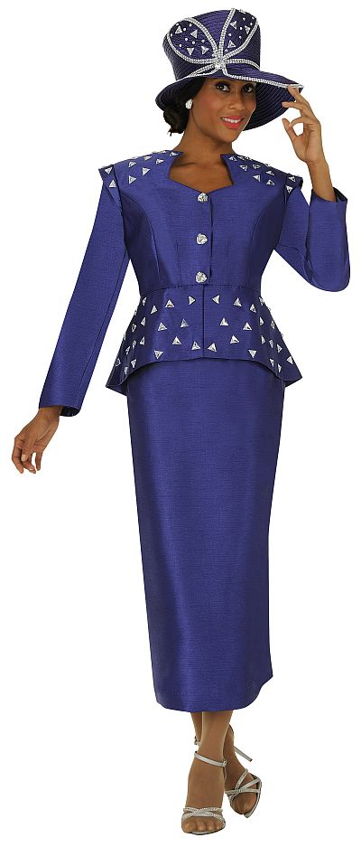 Gmi G4402 Womens Shimmer Church Suit French Novelty