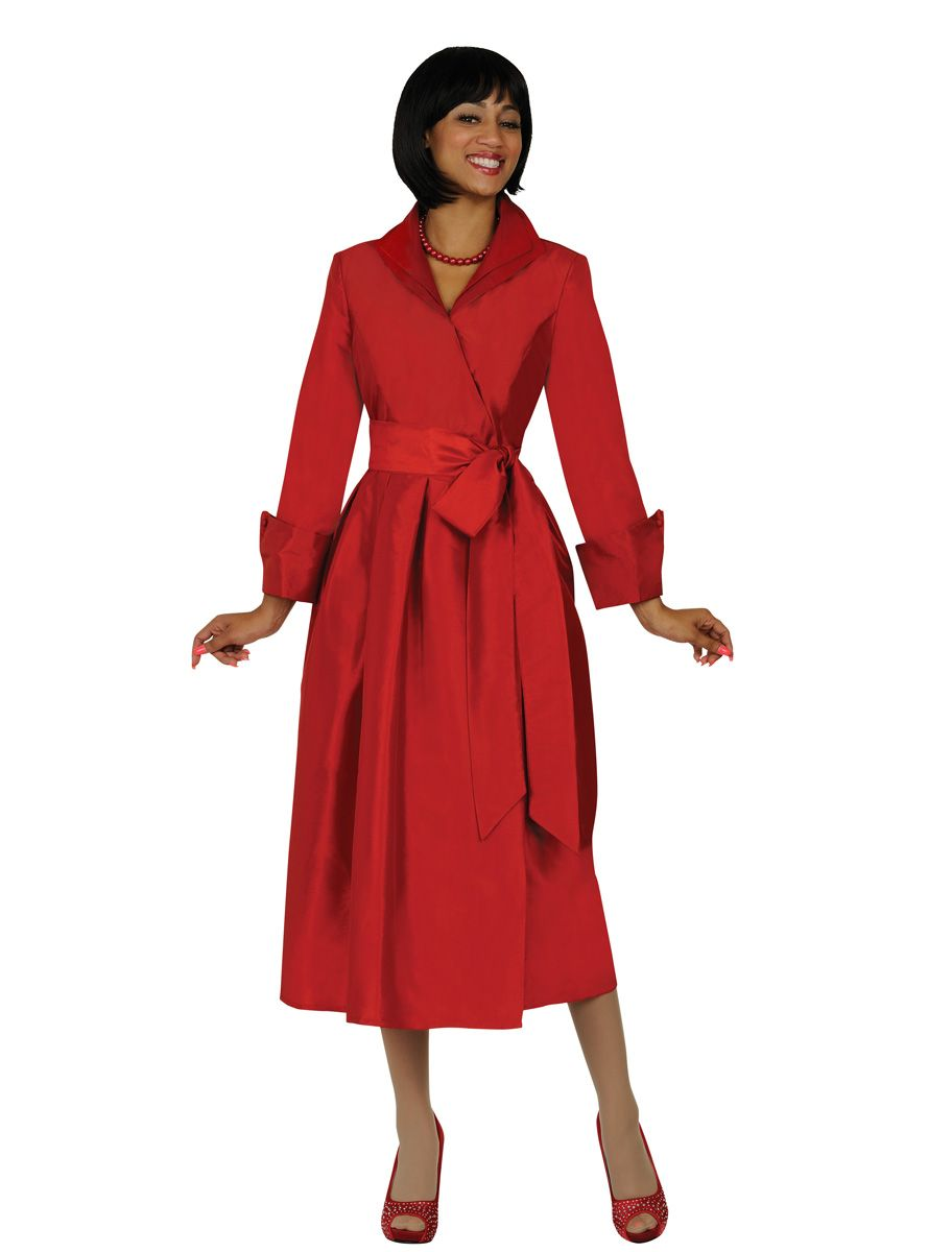 Size 16 Red Nubiano DN5371 Tea Length Church Dress: French ...