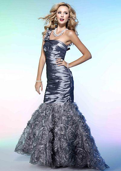 BG Haute Stunning Silver One Shoulder Mermaid Prom Dress F21027 ...
