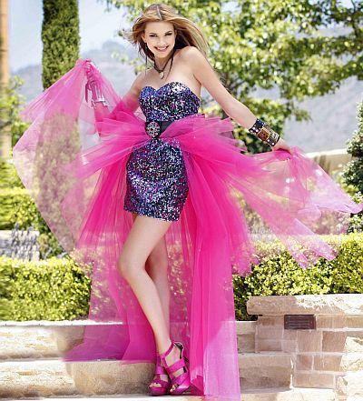 Prom Dress Designers on Bg Haute Sequin Short Prom Dress With Detachable Long Skirt F28079