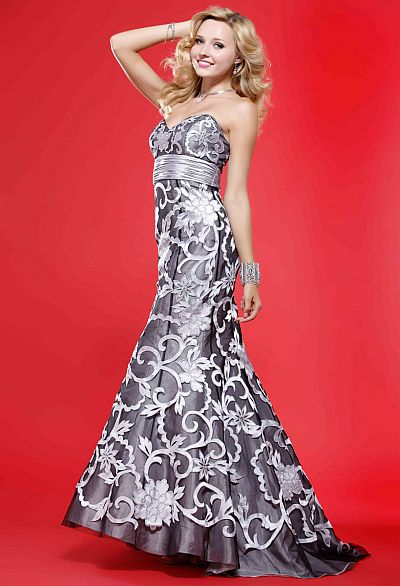 BG Haute Trendy Flower Pattern Prom Dress F28088: French Novelty