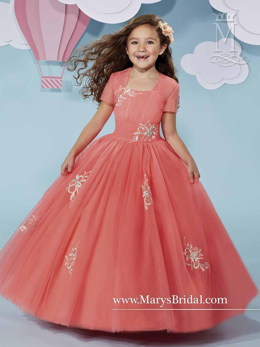 Cupids by Marys Bridal F511 Flower Girls Tulle Dress: French Novelty
