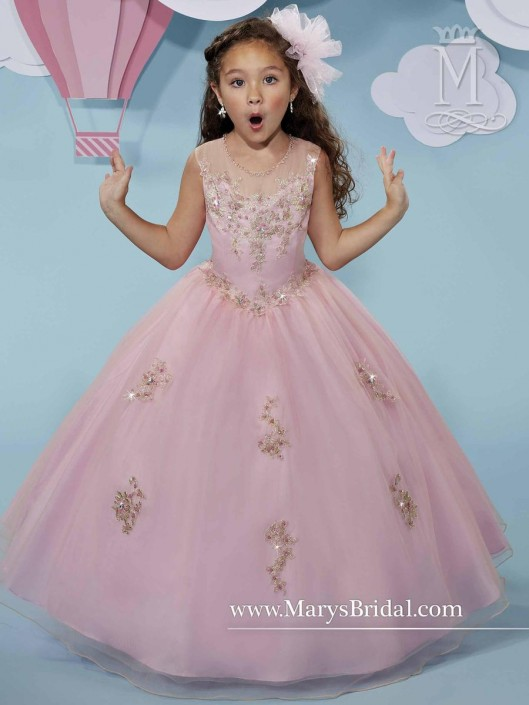Cupids by Marys Bridal F517 Flower Girls Tulle Dress: French Novelty