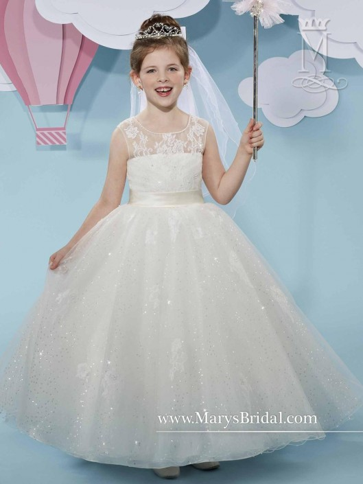 Cupids by Marys Bridal F519 Flower Girls Sparkling Gown: French Novelty