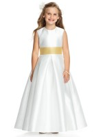 Dessy FL4037 Sateen Flower Girl Dress image