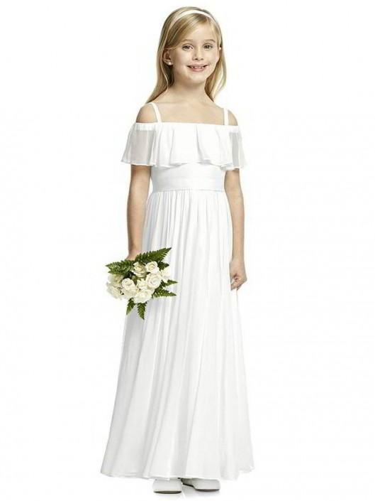 Dessy FL4053 Off the Shoulder Flower Girls Dress: French Novelty