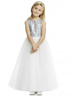59b11e5f812 Dessy FL4055 Sequin and Tulle Flower Girls Dress