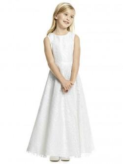 e0dd7d07b0f Dessy FL4056 Sequin Illusion Flower Girls Dress