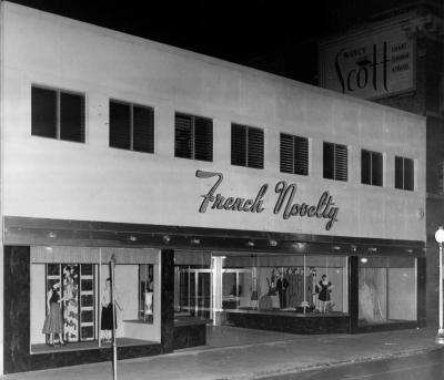 French Novelty in 1952 on 119 West Adams Street in Jacksonville, FL