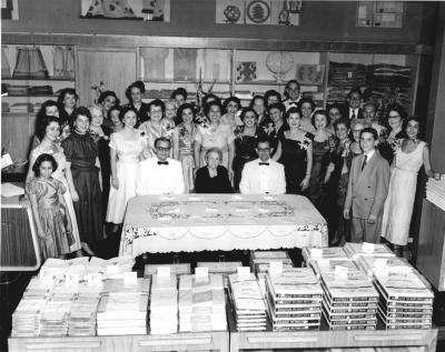 Mizrahi Family and Employees in 1952 on 119 West Adams Street in Jacksonville, FL
