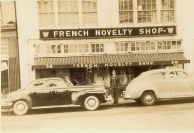 The French Novelty Shop during the 1940's.