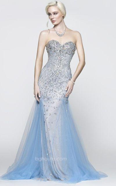 bg haute g3501 mermaid dress with sheer beading french