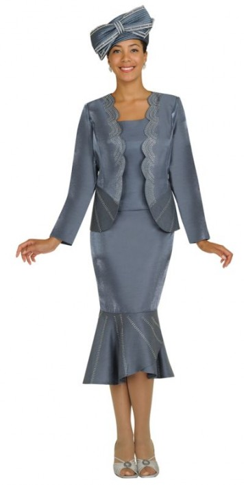 Gmi G4083 Mothers Wedding Suit With Scalloped Jacket French Novelty