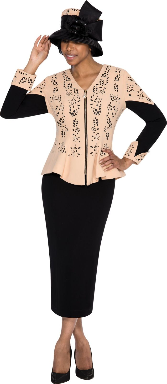 GMI G5362 Womens Church Suit With Cutwork: French Novelty