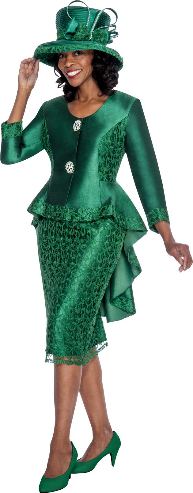 Gmi G6012 Womens Church Suit With Lace French Novelty
