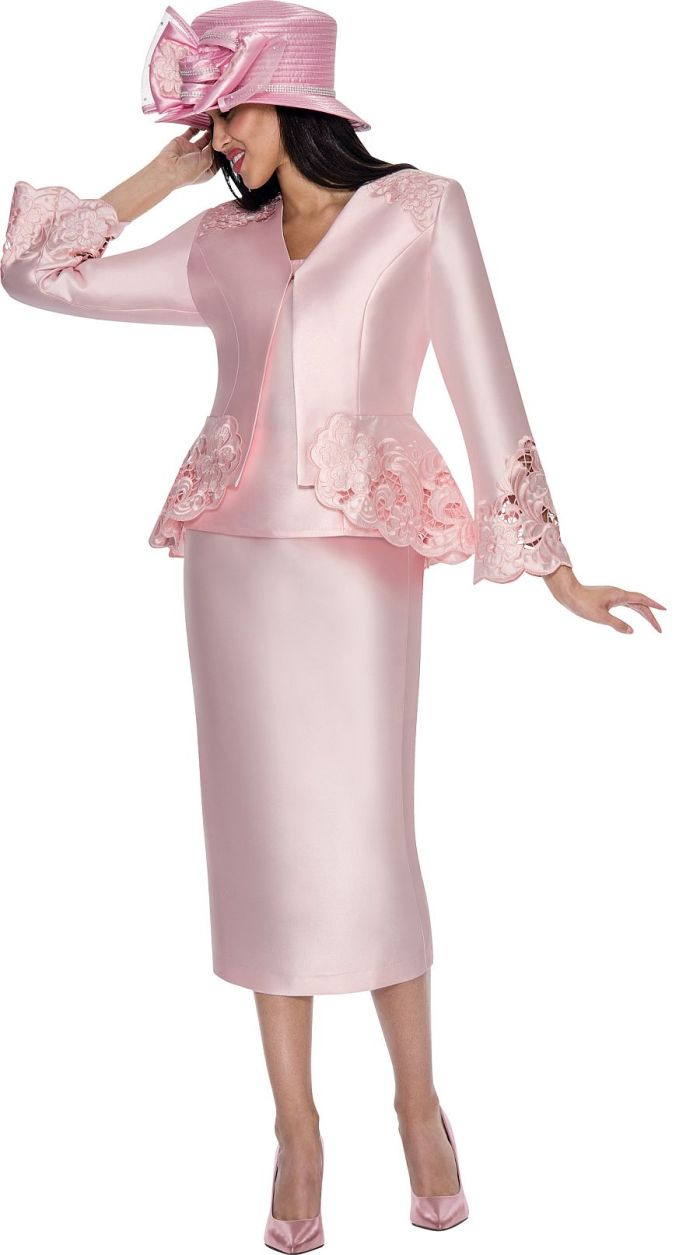 GMI G6083 Womens 3pc Embroidered Church Suit: French Novelty