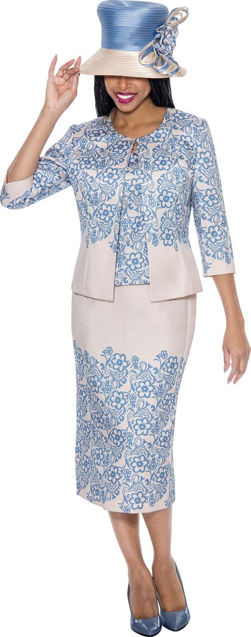 GMI G6283 Womens Church Suit With Floral Design: French