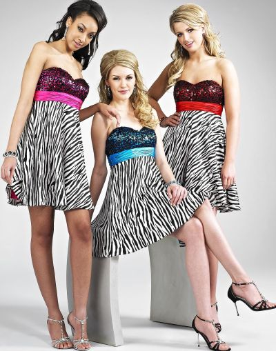 Zebra print sequin bodice landa short homecoming dress for Zebra print wedding dress