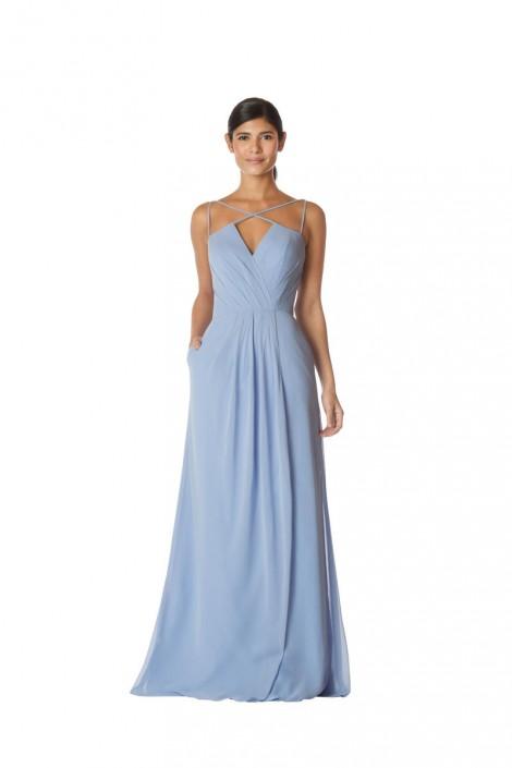 fd0fb2b8d6 Bari Jay IC-1761 Strappy Iridescent Long Bridesmaid Dress  French Novelty