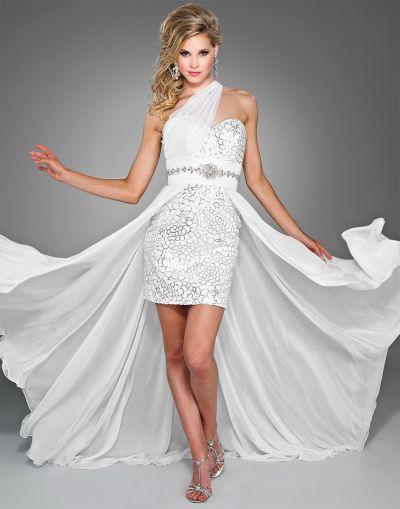 Splash by Landa High Low Sequin and Chiffon Prom Dress JC040: French ...