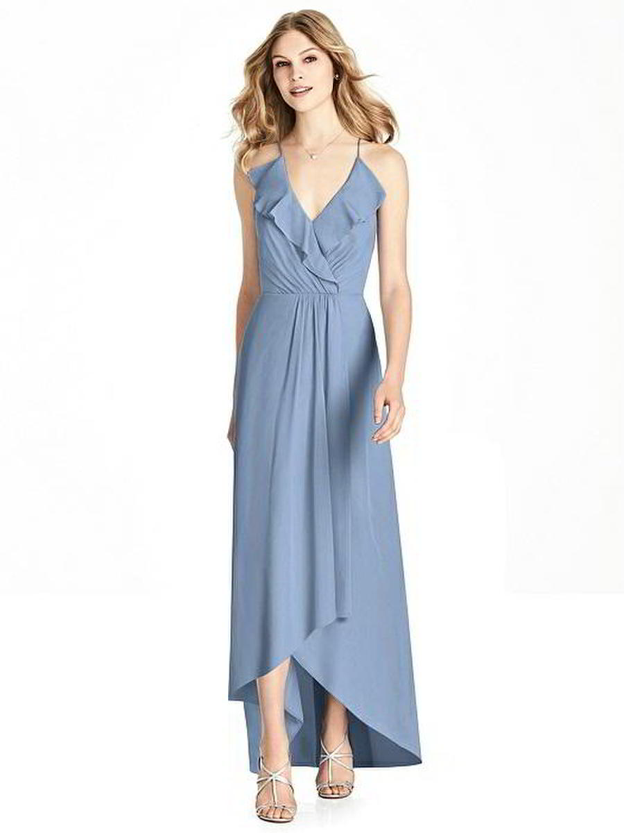 Jenny Packham JP1006 Ruffle High Low Bridesmaid Dress: French Novelty