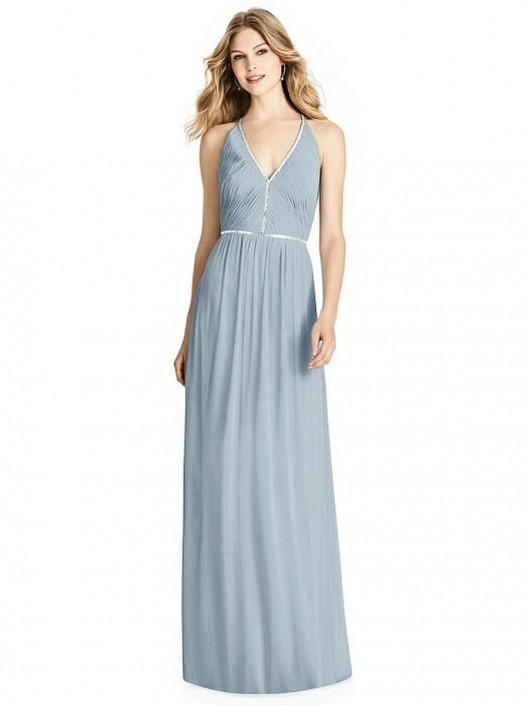 6a78be33859b Jenny Packham JP1009 Beaded Trim Bridesmaid Dress: French Novelty