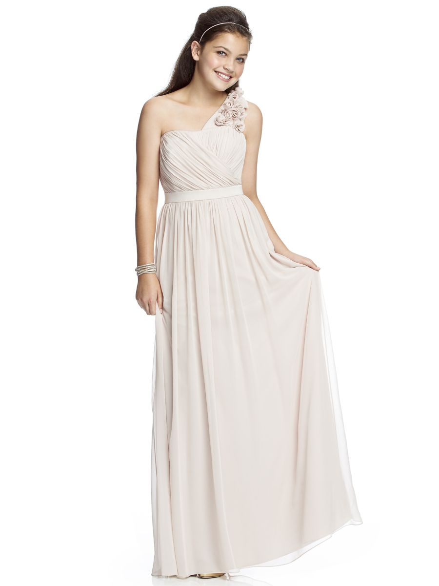 Dessy JR526 One Shoulder Junior Bridesmaid Dress