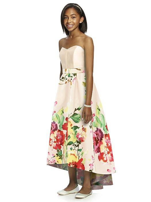 c90c6ad2b1b Dessy JR533CP Print Junior Bridesmaids Dress  French Novelty