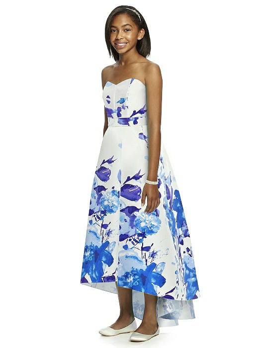 7a67c2eec Dessy JR533FP Floral Print Junior Bridesmaids Dress: French Novelty