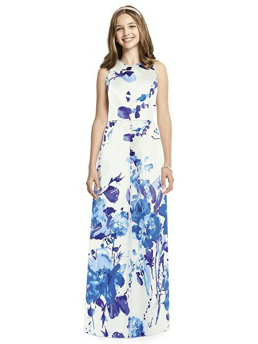 Dessy JR536FP Floral Print Junior Bridesmaid Dress: French