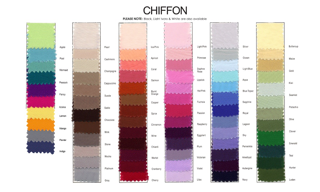 Chiffon Color Chart: French Novelty