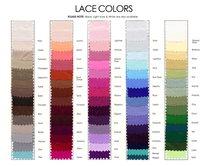Lace Color Chart French Novelty