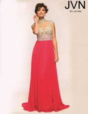 2aeb7097225 Size 0 Hot Pink JVN Prom JVN20509 Cap Sleeve Gown by Jovani